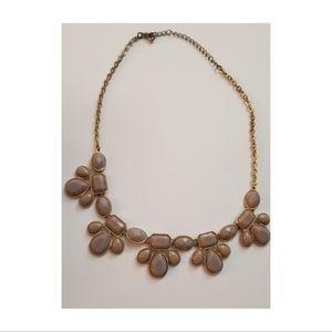 Gold & Stone Statement Bib Necklace